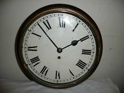 Antique, School / Station Wall Clock, Chain Driven Fusee Movement. Working.