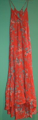 18d4120c6c2 Billabong Women s Flamed Out Maxi Dress in Coral with floral pattern Size  Small