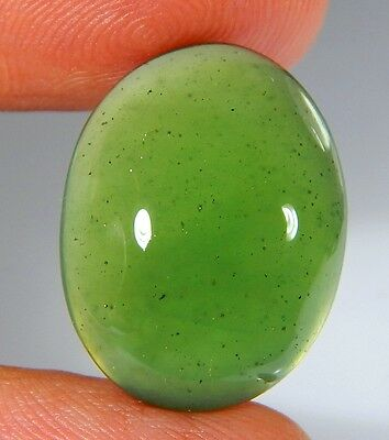 15 Ct Top Natural Green Emerald Color Serpentine Jade Oval Cabochon Gemstone A59