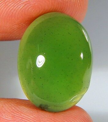 16 Ct Natural Ring Size Deep Green Serpentine  Jade Oval  Cabochon  Gemstone A99