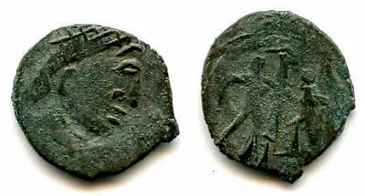 Nice imitation of a Roman AE3, struck in Sri Lanka, 400's CE (GLORIA EXERCITVS)