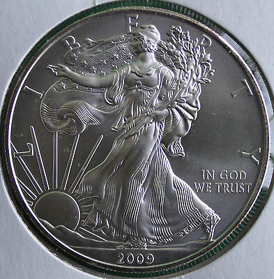 2009 BU American Silver Eagle Dollar Uncirculated ASE US Mint Bullion Coin