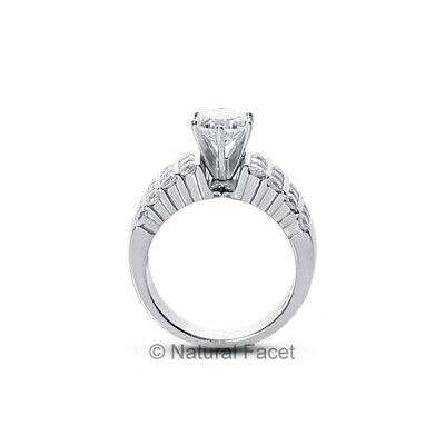 1.26ct tw E/I1/Ideal Round AGI Certify Diamonds White Gold Wide Band Ring 6.12mm