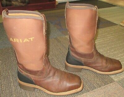 c377386847e MENS ARIAT HYBRID All Weather Brown Steel Toe Work Boots sz 10 EE