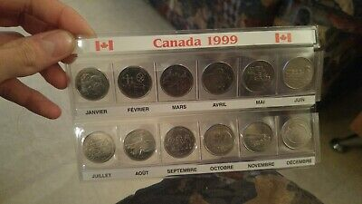 1999 Canada Millennium 12 coin set Quarter 25 cent 25c Canadian