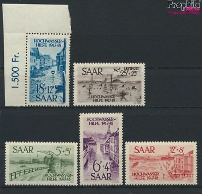 Saar 255-259 (complete issue) unmounted mint / never hinged 1948 Flood (9264988