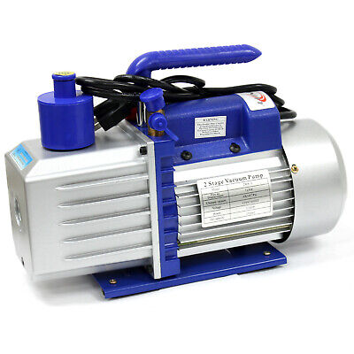 Two Stage 7 CFM 3/4 HP Rotary Vane Deep Vacuum Pump 110V 60Hz HVAC AC Tool