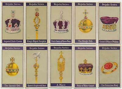 CARRERAS - 1925 : Regalia Series Complete Set (25) Cigarette Cards