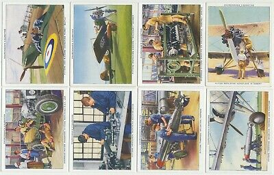 CHURCHMAN - 1937 : The R.A.F. At Work Complete Set (48) Large Cigarette Cards