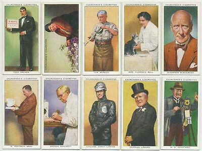 CHURCHMAN - 1938 : In Town To-Night Complete Set (50) Cigarette Cards