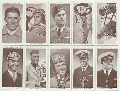 CHURCHMAN - 1939 : Kings of Speed Complete Set (50) Cigarette Cards