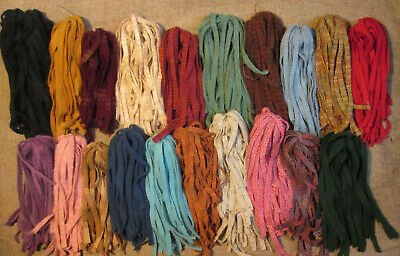 20 Color Stash Starter 500  #8 Hand and Mill Dyed Rug Hooking Wool Strips