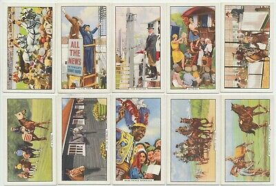 GALLAHER - 1938 : Racing Scenes Complete Set (48) Cigarette Cards