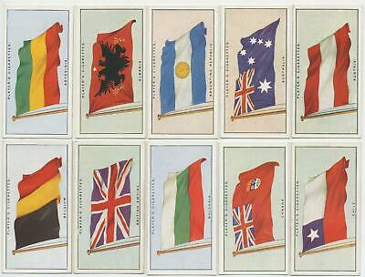 PLAYER, John- 1928 : Flags of The League Of Nations Complete Set (50) Cig. Cards