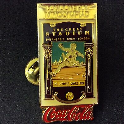 Coke Coca-Cola 1898-1988 Olympic Historical Summer Poster pin London 1908 # 764