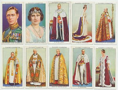 PLAYER, John- 1937 : Coronation Series-Ceremonial Dress Cmpl Set (50) Cig. Cards