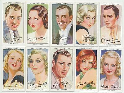 PLAYER, John - 1938 : Film Stars 3rd Series Complete Set (50) Cigarette Cards