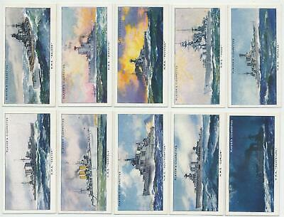PLAYER, John - 1939 : Modern Naval Craft Complete Set (50) Cigarette Cards