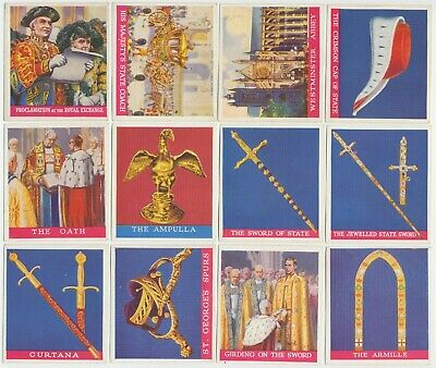 PHILLIPS- 1937: Coronation Of Their Majesties Complete Set (36) Large Cig. Cards