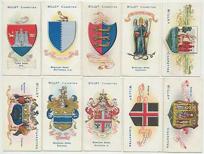 WILLS UK - 1905 : Borough Arms 4th (151-200) Complete Set (50) Cigarette Cards