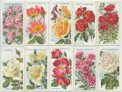WILLS UK - 1913 : Roses 2nd Series (51-100) Complete Set (50) Cigarette Cards