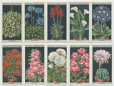 WILLS UK - 1925 : Flower Culture In Pots Complete Set (50) Cigarette Cards