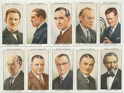 WILLS UK- 1934 : Radio Celebrities, 1st Series Complete Set (50) Cigarette Cards