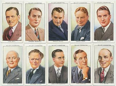 WILLS UK- 1934 : Radio Celebrities, 2nd Series Complete Set (50) Cigarette Cards