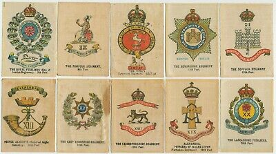 Anon AU - 1915 : Crests & Badges of British Army (Silk) (20) Large Cig. Cards