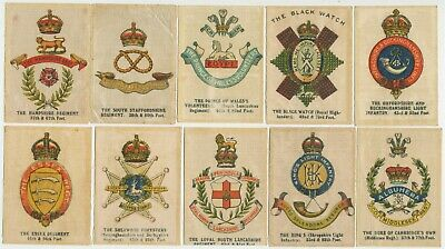 Anon AU - 1915 : Crests & Badges of British Army (Silk) (23) Large Cig. Cards