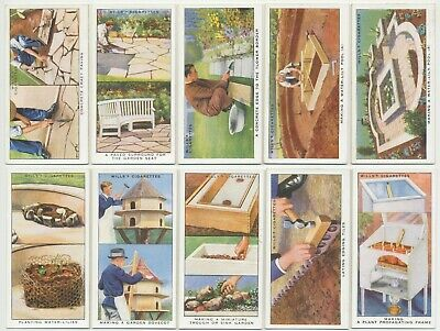 WILLS UK - 1938 : Garden Hints Complete Set (50) Cigarette Cards