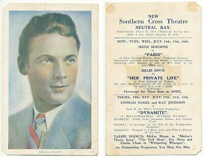 1920's – 5 Cinema Lobby Cards (postcard size) – Neutral Bay, Mosman Theatres