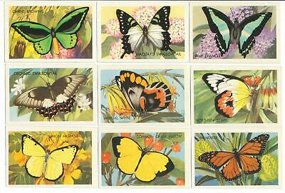 SHELL (Aust.) 1962: AUSTRALIAN BUTTERFLIES & MOTHS Complete Set (60) Trade Cards