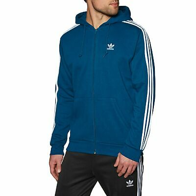Adidas Originals 3 Stripes Full Homme Sweat à Capuche Avec Fermeture Éclair  - 2cee68652d0