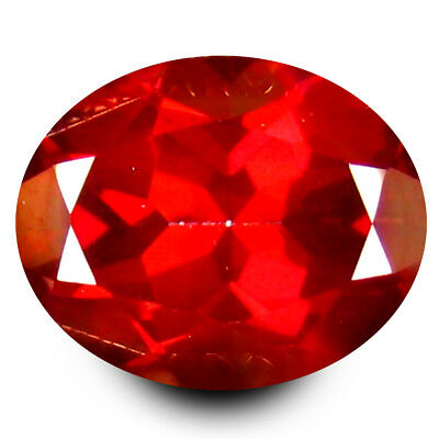 3.31 ct AAA+ Super-Excellent Oval Shape (10 x 8 mm) Crimson Red Topaz Gemstone