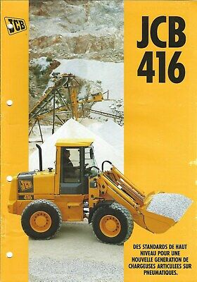 Equipment Brochure - JCB - 416 - Wheel Loader - c1995 - FRENCH language (E4989)