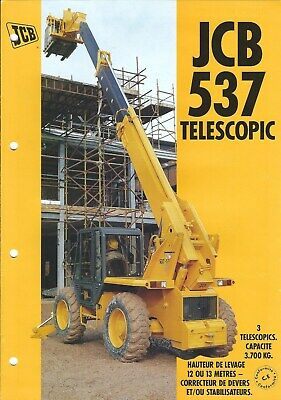 Equipment Brochure - JCB - 537 - Telescopic - c1995 FRENCH language (E4995)