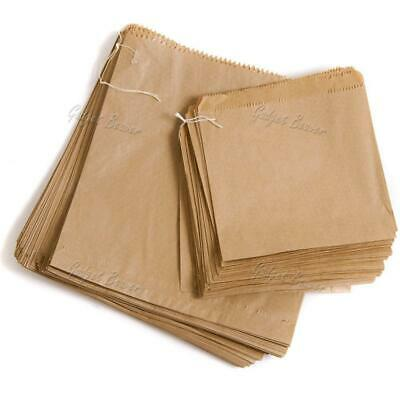 Brown Kraft Bags Strung Paper Food Bag Sandwiches Grocery Shop Retail Sweets