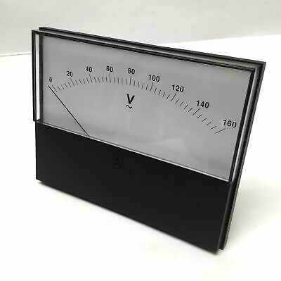"KCH0718H Analog Panel AC Voltmeter Dial Voltage Gauge 0-160VAC 5-13/16"" x 4-1/2"""