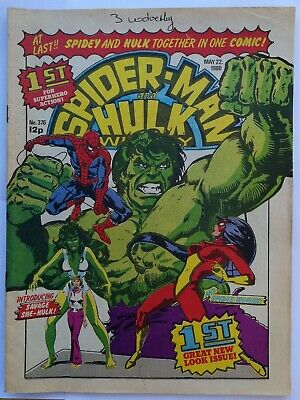 Spiderman and Hulk Weekly #376 May 22nd 1980 - 1st Merger Issue