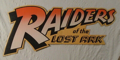 Raiders Of The Lost Ark 1981 Display Piece Steven Spielberg Harrison Ford Poster