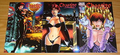Chastity: Theatre of Pain #1-3 VF/NM complete series chaos comics bad girl set 2
