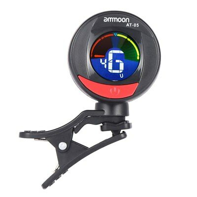 Clip On Guitar Tuner Chromatic Rotatable LCD Screen for Bass Violin Ukulele