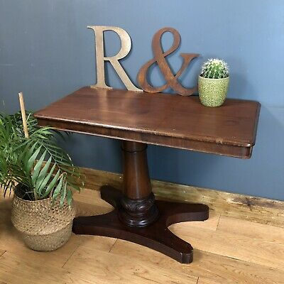 Antique William IV Library Reading table Occasional Lamp sideboard Mahogany