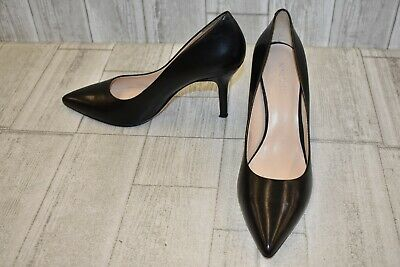 3322ca92e5b NINE WEST WOMEN S NWFLAX Black Lamb Skin Leather Pointed Toe Pumps ...