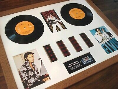 "Elvis Presley That's The Way It Is 7"" Vinyl 35Mm Film Cell Framed Montage"