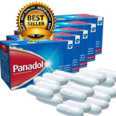 500mg Paracetamol (PANADOL) Fast Pain & Fever Relief 60,144 & 240 Tablets
