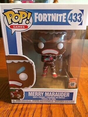 *New* Funko Pop Fortnite Merry Marauder Figure Gingerbread Man