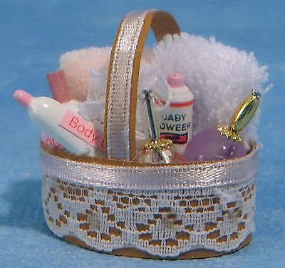1:12 Scale Pink Bathroom Accessories Set Dolls House Miniature Bedroom Makeup 60