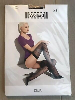 New Wolford Delia Stay Up Stocking XS Black RRP £36 Sexy